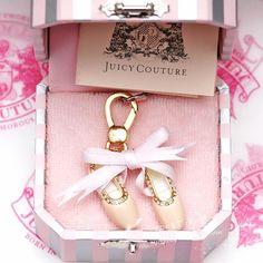 美国正品Juicy couture丝带芭蕾舞鞋吊坠挂坠项坠-淘宝网