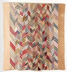 Chevron Strippy. Date: 1880 - 1900;