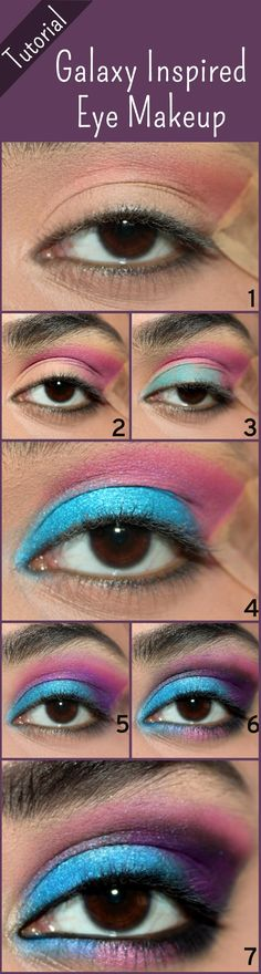 Galaxy Inspired Eye Makeup Tutorial – With Detailed Steps And Pictures