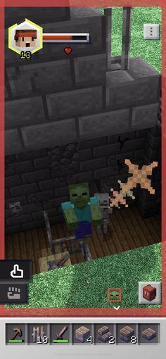 Minecraft Earth na App Store Minecraft App, Minecraft Earth, How To Play Minecraft, Pet Wolf, Health Bar, Minecraft Creations, Augmented Reality, Pokemon Go, Recipes