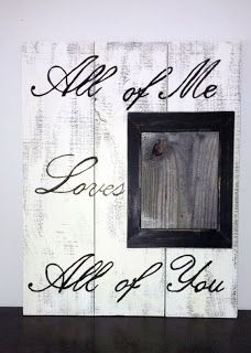 Wall Art Picture Frame Made From Pallets  --- #pallets