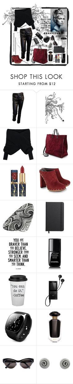 """""""Rebellious mood"""" by natalyapril1976 ❤ liked on Polyvore featuring Junya Watanabe, WithChic, Clare V., Proenza Schouler, Thomas Sabo, Shinola, Chanel, Sony, Victoria's Secret and Selima Optique"""