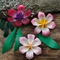 Una flor en origami: bella, fácil y rápida de hacer