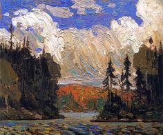 Tom Thomson, Black Spruce in Autumn, Canadian Group of Seven Group Of Seven Art, Group Of Seven Paintings, Paintings I Love, Emily Carr, Canadian Painters, Canadian Artists, Landscape Art, Landscape Paintings, Creative Landscape