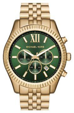 MICHAEL Michael Kors 'Lexington' Chronograph Bracelet Watch, 44mm available at #Nordstrom
