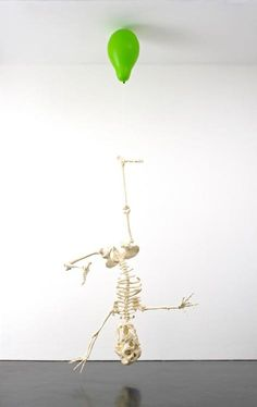Tom Friedman: Untitled (Green balloon with skeleton), 2012