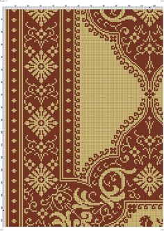 Cross Stitch Art, Cross Stitch Patterns, Diy And Crafts, Crochet, Hand Embroidery, Rugs, Crocheting, Bricolage Noel, Embroidery