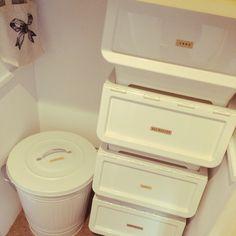 naekoさんの、カインズ,キャリコ,分別,カインズホーム,IKEA,ゴミ箱,キッチン,のお部屋写真
