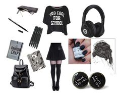 """""""Gothic?"""" by bingsucks ❤ liked on Polyvore featuring Boohoo, BeiBaoBao, Vera Bradley, Blackbird, Beats by Dr. Dre, women's clothing, women's fashion, women, female and woman"""