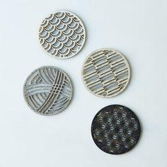 Geometric Felt Coasters (Set of 4) on Food52