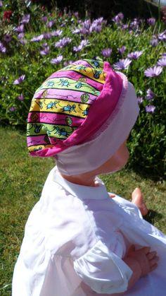 a296e6833dca Chapeau d été de soleil jaune rayé marin en coton pour enfant  de lin eva  création  confortable et doux collection printemps été bretagne   chapeau  de ...