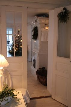 decorating the rear entry: a holiday welcome for family members...