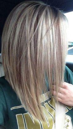 Verführerische umgekehrte Bob Frisur Ideen Lange A-Linie Haarschnitt, Bob Frisuren Hair Day, New Hair, Hair Color And Cut, Great Hair, Pretty Hairstyles, Hairstyles 2016, Curly Hairstyles, Evening Hairstyles, Wedding Hairstyles
