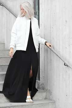Outfit | Long dress and bomber  | MyDubio