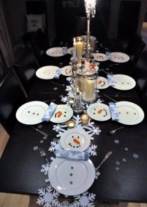 Snowman Dinner Decorations Ideas