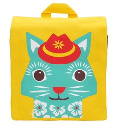 Organic cotton cat backpack