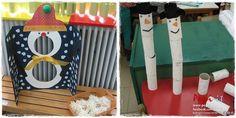 Παιχνίδια με χιονάνθρωπους. Χειμωνιάτικα παιχνίδια : φτιάξτε τον πιο ψηλό χιονάνθρωπο με ρολά χαρτιού και στοχεύστε χιονόμπαλες στο στόμα ή στην κοιλιά του.