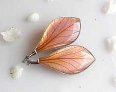 Unique gift for women Pale violet pink dangle earrings Elegant bright piece of nature Pressed flower resin jewelry Real flower earrings