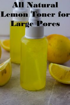 Lemon Toner (Large Pore Series)Lemon Toner Recipe: 1 ½ cups distilled water ½ tbsp. lemon juice 1-2 drops lemon essential oil Recipe directions: In a small spray bottle add lemon juice, water, and essential and shake well. Once combine place in fridge and use when needed. The lemon toner is good for 1-2 weeks.