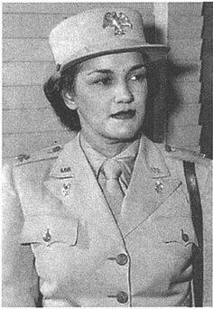 """""""Harriet M. West was the first Black woman major in the Women's Army Corps (WAC) during World War II (Only two ever existed). Once promoted to that rank and named an aide to WAC director Col. Oveta Culp Hobby, Ms. Waddy was able to take an active role in changing the status of """"colored"""" women in the military. She became an advisor to the Army on racial issues""""."""