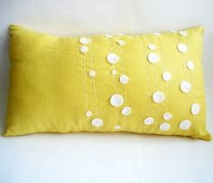 another really cute DIY pillow idea.  Again this could be done with felt and embroidery.