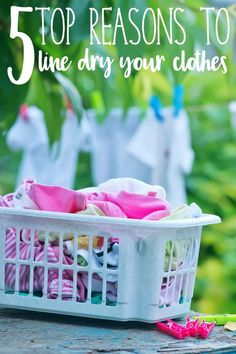 5 Reasons why you sh 5 Reasons why you should line dry your clothes and what sort of line to choose for your family plus our best buy of the year for lines. Cleaning Recipes, Cleaning Hacks, Line Drying Clothes, Laundry Hacks, Save Money On Groceries, Natural Cleaners, Green Cleaning, Natural Cleaning Products, Natural Living