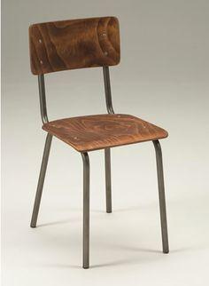 zaylon steel finish side chair