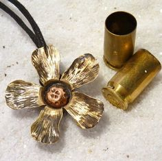 Items similar to Bullet Flower Pendant, Brass Blossom, Bullet Shell Pendant on Etsy Ammo Jewelry, Metal Jewelry, Jewelry Crafts, Jewelry Accessories, Handmade Jewelry, Jewlery, Gothic Jewelry, Jewelry Necklaces, Bullet Casing Crafts