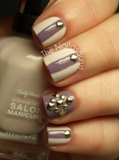 The Nailasaurus: Pretty Polish? With a Stud on Top!