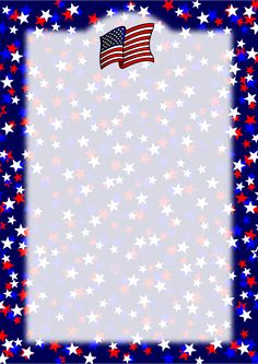 64fbd2d9e997 Patriotic Stars and Flag Border - Version 1. Three more variations of this  design are