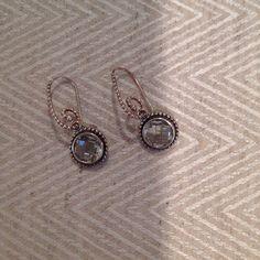 Pandora earrings. Sterling silver Classic Pandora earring. Only worn once. Pandora Jewelry Earrings