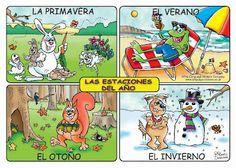 Las 4 asignaturas basicas: Juegos sobre las estaciones del año