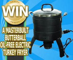 Enter to win a Masterbuilt Butterball Oil-Free Electric Turkey Fryer from A Freebie Empire. Ends10/31