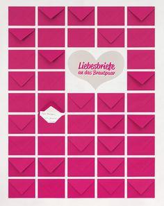 Liebesbriefe-Gästebuch - Ganz simpel ist dieses Gästebuch herzustellen. Kleben Sie ganz einfach kleine Briefumschläge in Ihrer Hochzeitsfarbe (vielleicht auch mehrere Farben) auf eine Holzplatte, die zuvor mit schönem Papier tapeziert wurde.