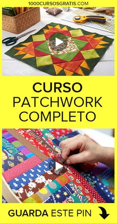 If you want to learn patchwork, then we bring this free patchwork course … Patchwork Tutorial, Patchwork Quilt Patterns, Crazy Patchwork, Patchwork Designs, Quilting Projects, Quilting Designs, Sewing Projects, Unique Christmas Trees, Easy Christmas Crafts
