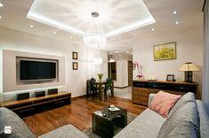 Ząbki - Średni salon z jadalnią, styl nowoczesny - zdjęcie od BB Studio S.C.