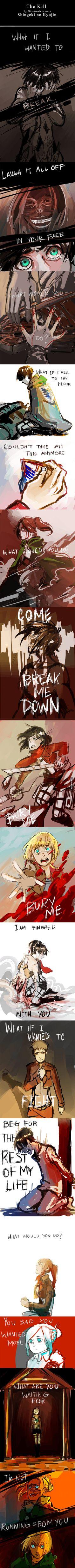 ||Attack on Titan: The Kill: 30 Seconds to Mars|| Lo amo, lo amo, ¡Lo amo, maldita sea! ;-; Este cover es hermoso.