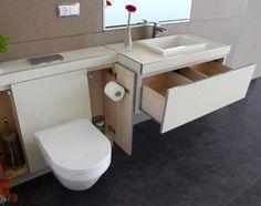 Baño modular que permite carcasas intercambiables para renovar la imagen ciclicamente #ReformaSinObra