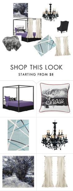 """Let it Snow"" by gena-june on Polyvore featuring interior, interiors, interior design, home, home decor, interior decorating, Dorel and Lexington"