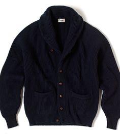 Iconic Four Ply Cashmere Shawl Collar Cardigan - Drakes London
