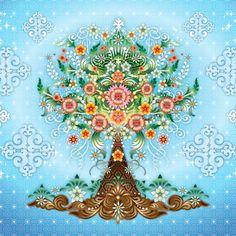 Catalina Estrada behang mural Life Tree
