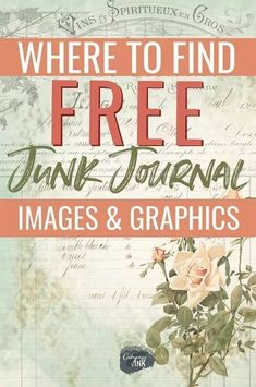 Where to find free junk journal images and graphics - whether you're looking to . - Home DecorationResources to find free junk journal printables and ephemera for your next junk journal idea!The place to search out free junk journal photographs and graphi Junk Journal, Art Journal Pages, Journal Paper, Art Journals, Garden Journal, Journal Entries, Journal Cards, Journaling, Vintage Ephemera