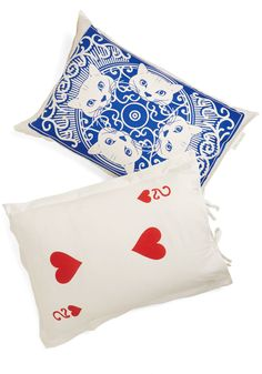 A Royal Plush Pillowcase Set. A fun-filled day of competitive gaming can make one quite sleepy, and still, you keep winning when you rest your head on these 'decked'-out pillowcases! #multi #modcloth