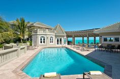 Villa Casa Varnishkes is a perfect family reunion vacation villa, with 9-bedrooms, swimming pool and steps from the beach in Turks & Caicos!