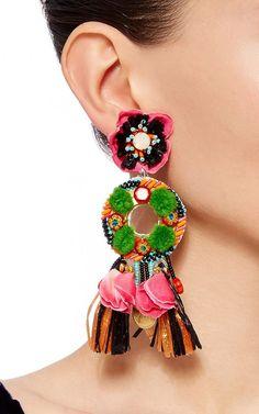 >>>Pandora Jewelry OFF! >>>Visit>> Naeem Khan Spring Summer 2016 - Preorder now on Moda Operandi Fashion trends Fashion designers Casual Outfits Street Styles Unique Earrings, Tassel Earrings, Earrings Handmade, Dangle Earrings, Handmade Jewelry, Jewelry Trends, Jewelry Accessories, Jewelry Design, Textile Jewelry