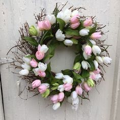 A personal favorite from my Etsy shop https://www.etsy.com/listing/263043713/22-spring-wreath-ready-to-ship-tulips