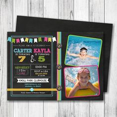 20 joint birthday party invitation wording 6 ruti and artis joint siblings birthday invitation joint birthday party invitation chalkboard birthday invitation brothers siblings twins sisters double sided filmwisefo