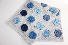 Baby Blanket   Crochet Blue Hues   Cot Pram Nursery Blanket   Made to Order