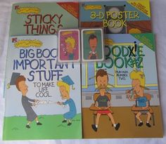 1997 Beavis & Butt-Head Lot of 4 Collectible Books and Playing Cards with Free Shipping