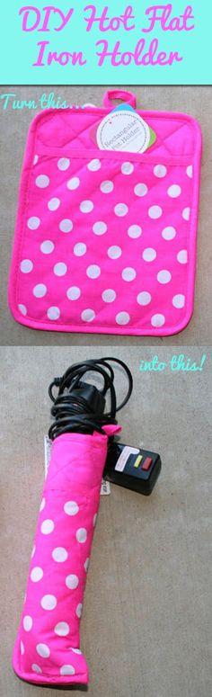 DIY Hot Flat Iron Holder--for Lindsey